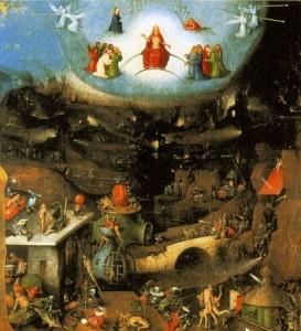 Le jugement dernier (détail) par Jérôme Bosch